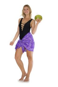 "Dragonfly Half Sarong/Mini Sarong ""Purple"""