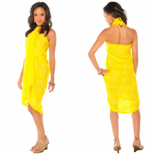 "Dragonfly Sarong ""Yellow"""
