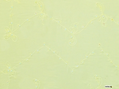 """Embroidered / Fringeless """"Soft Yellow"""