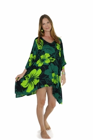 Floral Kaftan Lavish Jungle Green and Black
