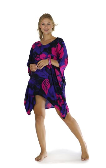 Floral Kaftan Summer Romance Pink and Purple