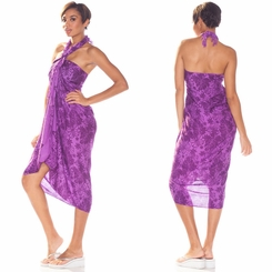 Floral Sarong In Purple
