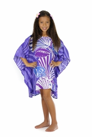 Girls Poncho Seashell Poncho Wanderlust Wendy Purple