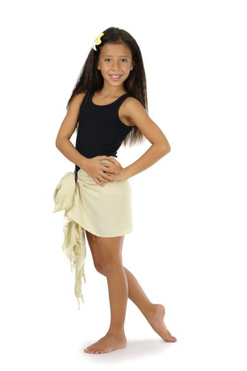 Kids Light Mocha Color Half Sarong