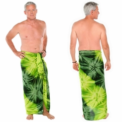 """Green Emerald"" Mens Sarong"