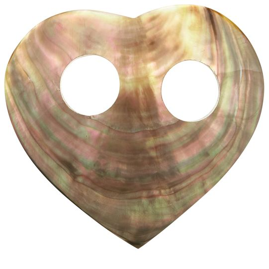 Grey Mother Of Pearl Sarong Tie in Heart