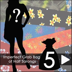 Group of 5 Imperfect Half Sarongs