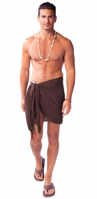 Half Mens Sarong / Mini Sarong Pareo in Brown