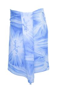 Half Mens Sarong/Mini Mens Sarong Pareo - Light Blue Smoked