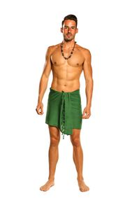 Half Mens Sarong / Mini Sarong Pareo in Green