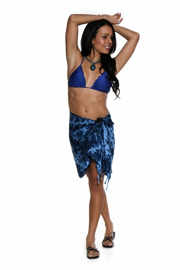 Half Sarong/Mini Sarong Pareo - Navy Blue Smoked