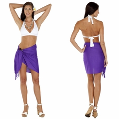 "HALF SARONG / MINI SARONG PAREO ""Purple"""