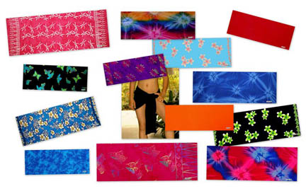 "HALF SARONGS / MINI SARONG / MINI SKIRT / COVER UP ""Light Weight"" *Assorted Only - Final Sale - No Returns"