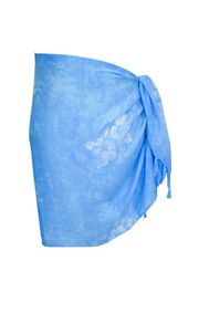 Hibiscus Flower Half Mens Sarong in Light Blue - Final Sale
