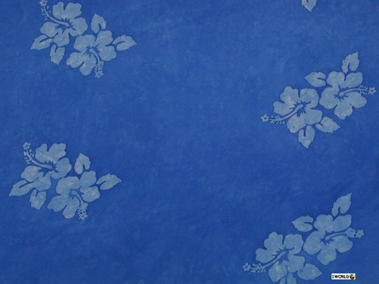 Hibiscus Flower Half Mens Sarong in Light Blue