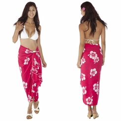Hibiscus Sarong in Pink/White - Coming Back Soon