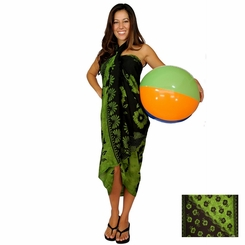 "Hibiscus Sarong ""Light Greenish Yellow"""