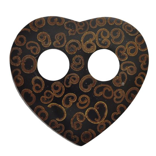 Inlaid Cinnamon Sarong Tie in Heart