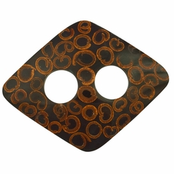Inlaid Cinnamon Sarong Tie in Rectangle