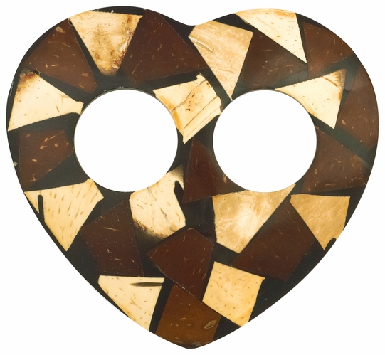Inlaid Coconut Sarong Tie in Heart