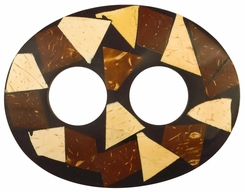 Inlaid Coconut Sarong Tie in Oval