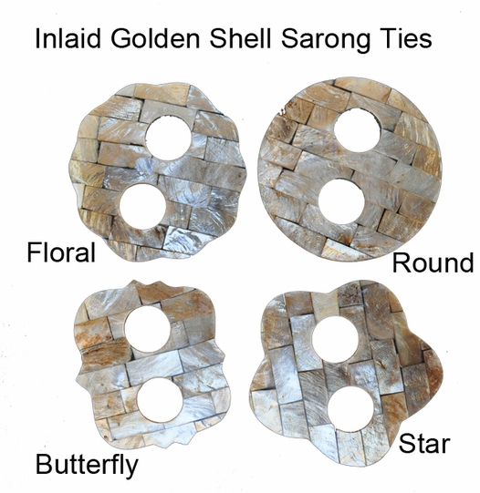Inlaid Golden Shell Sarong Ties
