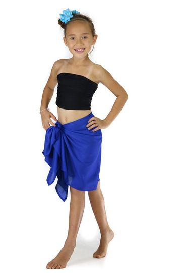 "Kids HALF SARONG / MINI SARONG PAREO ""Blue"""