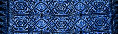 Short Abstract Tribal Swimsuit Cover-Up Sarong in Blue