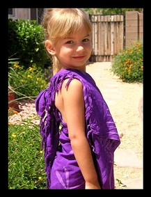 Kim's 3 Year Old in a Half Sarong