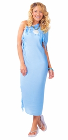 Light Blue Solid Sarong - Final Sale - No Returns