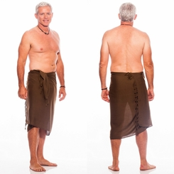 Light Brown Mens Sarong - Final Sale - No Returns