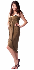 Light Brown Sarong - Final Sale - No Returns