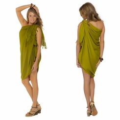 Light Green Olive Sarong - Final Sale - No Returns