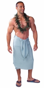 Light Grey Mens Sarong - Final Sale - No Returns