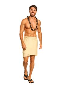 Light Mocha Color Half Mens Sarong
