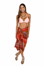 Light Weight Cotton Sarong in Brown Ombre