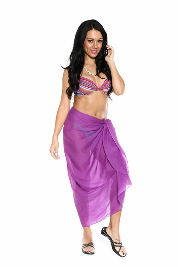 Light Weight Cotton Sarong in Purple - Final Sale - No Returns
