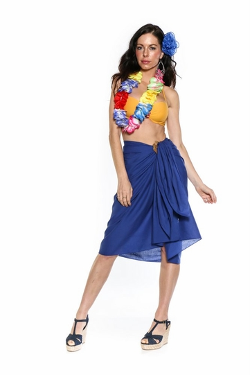 Light Weight Cotton Sarong in Royal Blue - Final Sale - No Returns
