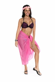 Light Weight Cotton Sarong in Pink - Final Sale - No Returns
