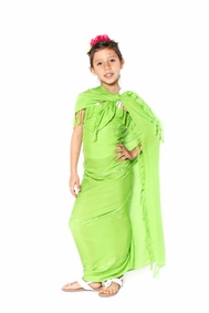 Lime Green Embroidered Girls Sarong