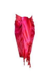 Men's Smoked Sarong in Red and Pink