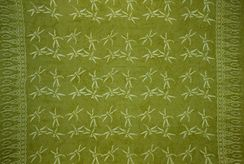 Mens Dragonfly Sarong in Light Olive Green