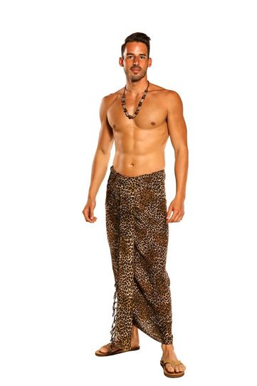 Mens Feline Sarong in Style 24