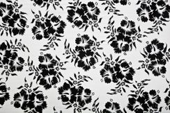 Mens Hanalei Floral Half Sarong in Black/White
