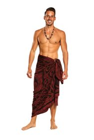 Mens Premium Celtic Circles Fringeless� Sarong in Merlot