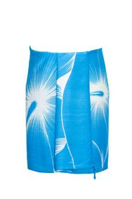 "Mens Sarong Beach Wrap Floral Half Sarong """"Sea Gypsy"""" Turquoise and White"