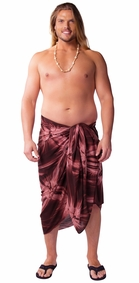 "Mens Sarong ""Brown"" Smoked PLUS SIZE - Fringeless Sarong"