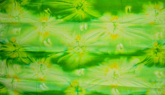 Mens Lime Green Tie Dye Sarong