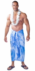 "Mens Sarong ""Light Blue"" Smoked"