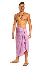 Mens Solid Lavender Sarong - Final Sale - No Returns